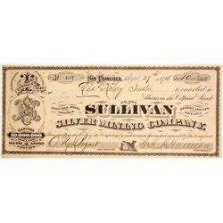 Sullivan Silver Mining Company Stock