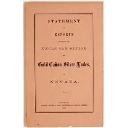 Uncle Sam Senior & Gold Canon Silver Lodes in Nevada