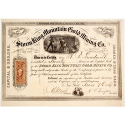 Storm King Mountain Gold Mining Company Stock