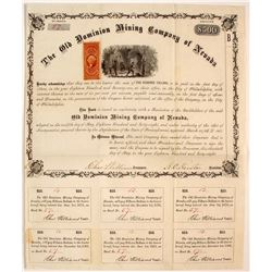 Old Dominion Mining Company of Nevada Bond