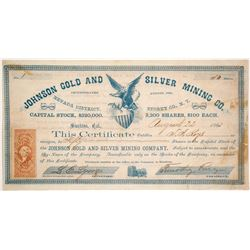 Johnson Gold and Silver Mining Company Stock - NUMBER 1