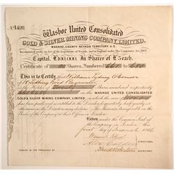 Washoe United Consolidated Gold & Silver Mining Company, Limited Stock