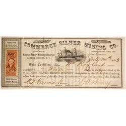 Commerce Silver Mining Company Stock