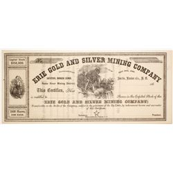 Erie Gold and Silver Mining Company Stock