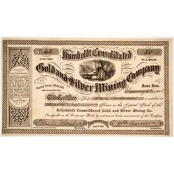 Humboldt Consolidated Gold & Silver Mining Company Stock