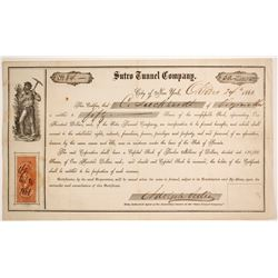 Sutro Tunnel Company early Stock Certificate