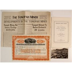 Tonopah Group of Ephemera- Four Pieces
