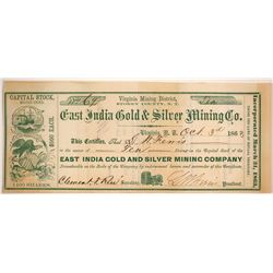 East India Gold & Silver Mining Company Stock