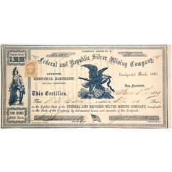 Federal and Republic Silver Mining Company Stock