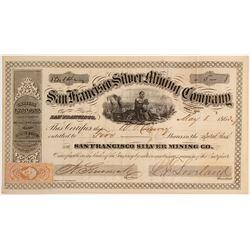 San Francisco Silver Mining Company Stock