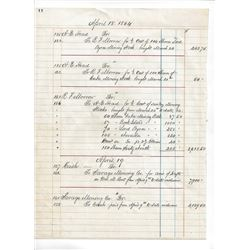 Savage Mining Company's Treasurer's Ledger Pages