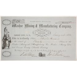 Washoe Mining & Manufacturing Company Stock