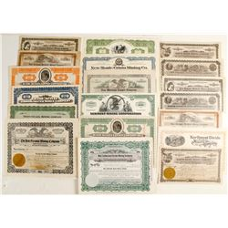 Large lot of post 1920 interesting Nevada Stocks