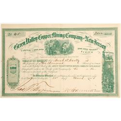 Green Valley Copper Mining Company of New Jersey Stock