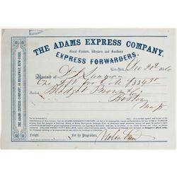 Adams Express Company Freight Receipt