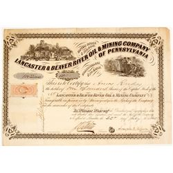 Lancaster & Beaver River Oil & Mining Company of Pennsylvania Stock