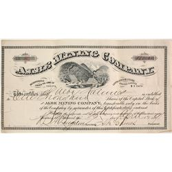 Albe Mining Company Stock Certificate