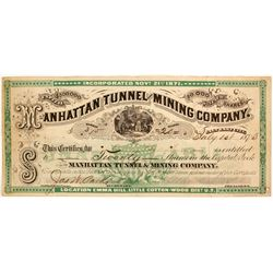 Manhattan Tunnel and Mining Company Stock