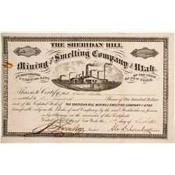 Sheridan Hill Mining and Smelting Company of Utah Stock