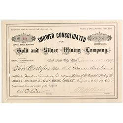 Shower Consolidated Gold and Silver Mining Company Stock
