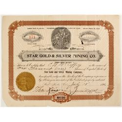 Star Gold & Silver Mining Company Stock