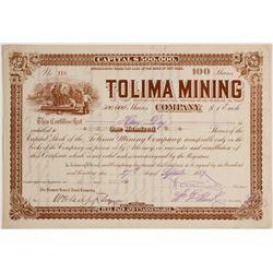 Tolima Mining Company Stock