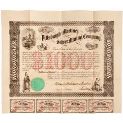Pittsburgh & Martinez Silver Mining Co. Bond Certificate
