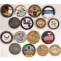 Eight US NAVY Challenge Coins - Various Designs
