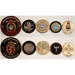 Five Challenge Coins / Medallions