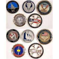 Five US AIR FORCE Challenge Coins - Various Designs