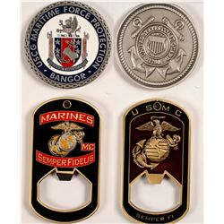 MARINE CORPS and COAST GUARD Challenge Coins
