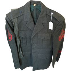 Korean War era U.S. Marine Corps Dress Green Jacket