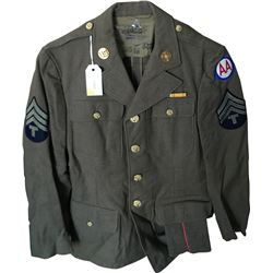 WWII U.S. Army Coastal Artillery Uniform