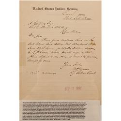 Montana Crow Agency Letter, 1892