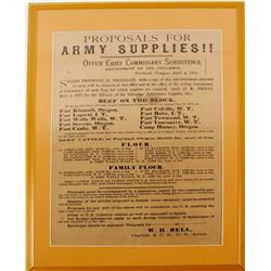 Requisition for Army Supplies to Forts in the Columbia District, 1877