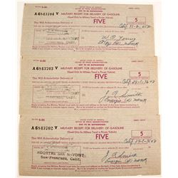 Military Receipt for Gasoline (Scrip)