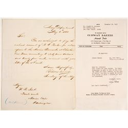 Secretary of the Navy Civil War Letter