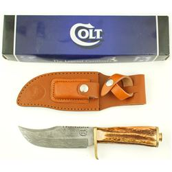 Colt model 45 stag grip Hunter knife
