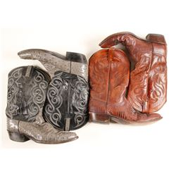 Ornate Cowboy Boots ( 2  Pairs ).