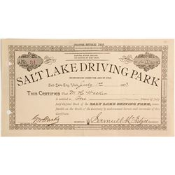 Salt Lake Driving Park Stock