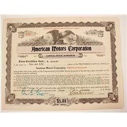American Motors Corp Stock