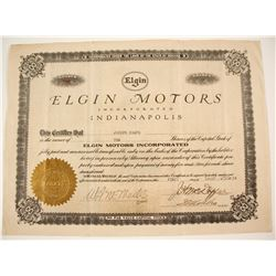 Elgin Motor Car Stock