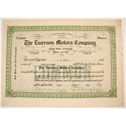 Emerson Motors Stock