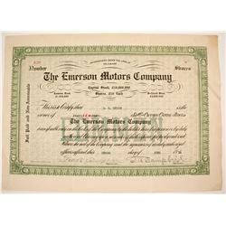 Emerson Motors Stock