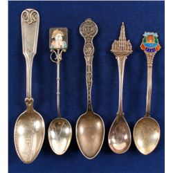 Foreign Sterling Souvenir Spoons