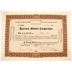 Harroun Motors Stock