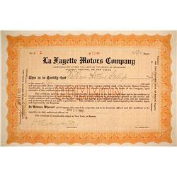 La Fayette Motors Stock