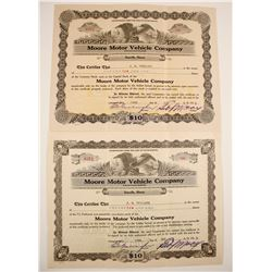 Moore Motor Vehicle Stocks, 2 Different
