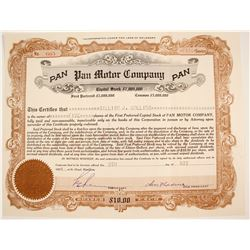 Pan Motor Co. Stock