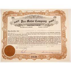 Pan Motor Co. Stock